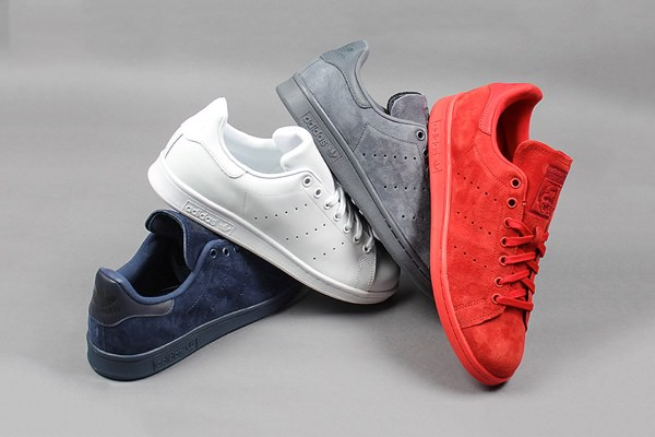 adidas stan smith rood suede