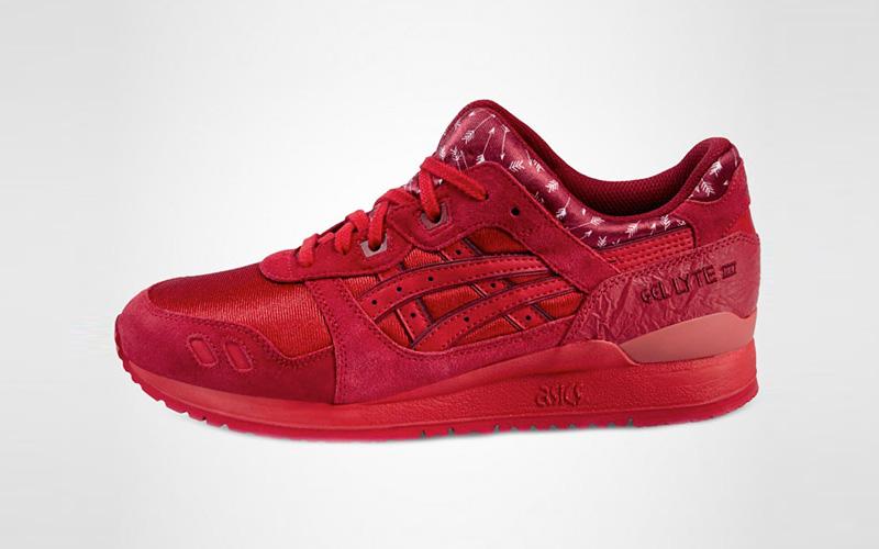 asics schoenen rood