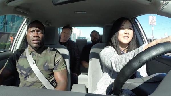 Ice Cube, Kevin Hart en Conan O'Brien geven hilarische rijles