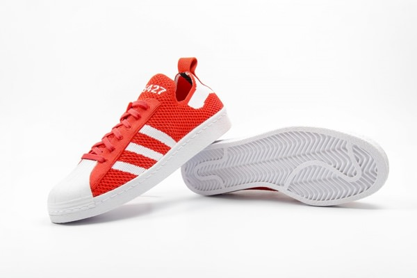 adidas Originals Superstar 80s Primeknit 'Luscious Red' Sneakers 3