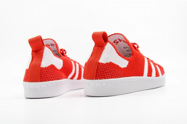 adidas Originals Superstar 80s Primeknit 'Luscious Red' Sneakers 4