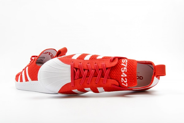 adidas Originals Superstar 80s Primeknit 'Luscious Red' Sneakers 5