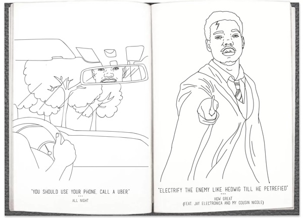 coloring book 2 chance the rapper the gallery for kanye west lyrics bound 2