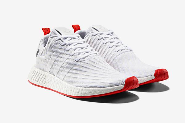 adidas Originals NMD_R2 'WhiteRed' Sneakers — Versheid